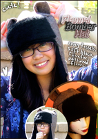 Flannel Bomber Bear Hat by Butterscotch-Llama