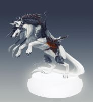 wolf snowstorm by Orphen-Sirius