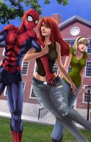 Mary Jane and Gwen by Adyon