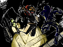 DS doodles: the RF vs. Ninjas by SkipperWing