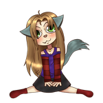 Chibi Ingwell sit by IngwellRitter