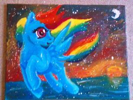 Rainbow Dash painting by Blood-Charm