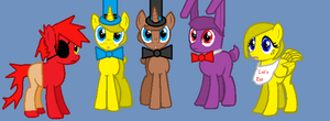 FNaF Cast as Ponies by TheYaoiLover24
