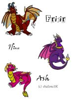ShaloneSK's Baby Dragons by GuardianOfTheFlame