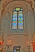 Stained glass and candles by Maylich