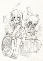 .Hypnohare and Crazycat. by LazyBasy