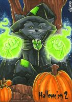 Hallowe'en 2 Sketch Card - Lynne Anderson 2 by Pernastudios
