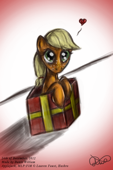''Four Art Days of Applejack'' - 06 - Adorable by DanteIncognito