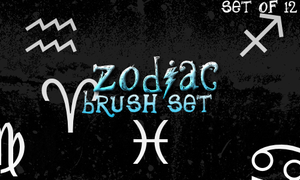 Zodiac Brushes by Mandaemonium