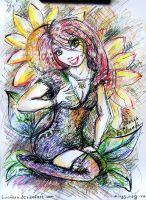 Sunflowers girl by Lucithea