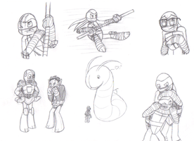 TMNT Donnie sketches by MetaLatias5