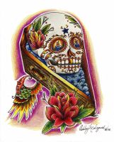 Sugar Skull Coffin by SketchbookFlavor