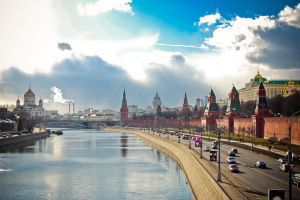 Sunny spring day in Moscow by Tupb