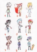 .:Chibi Male Adopts:. by The-DarkBunny