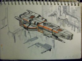 Spaceship Sketch 13-02-16 by SDFleshmaster