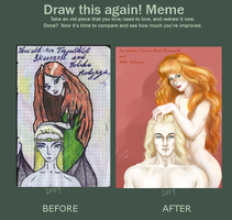 Draw it again meme: Lyon and Volha by sebastianscully