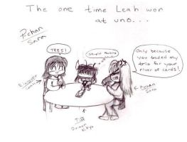 The only time Leah won at Uno by Mysticalpchan