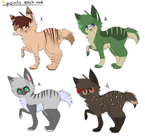 Adoptables-5 points by Valluwake