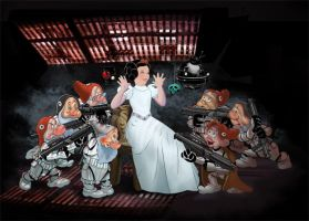 Snow White n 7 Stormtroopers by Thumper-001