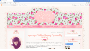 Pink floral blogger template by annensi