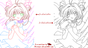 CCS lineart base by D4u-bases