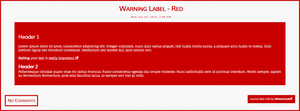 Warning Label - Red by MiloticScale