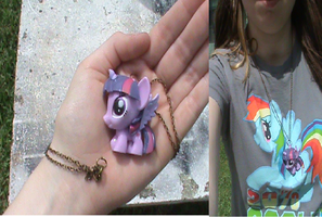 MLP-Alicorn Twilight Fashems Necklace (For Sale) by KrazyKari