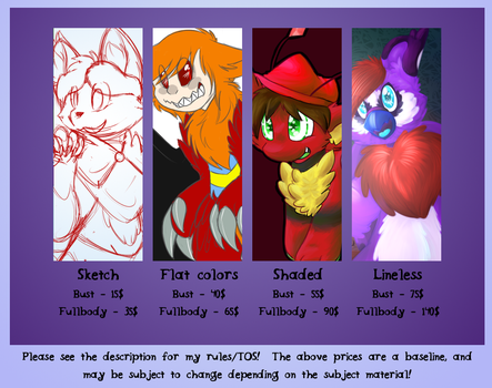 Commissions! by Artistonfire