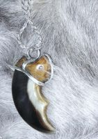Polar Bear claw necklace2 SOLD by lamelobo