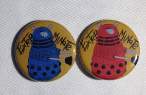 Dalek Buttons by ButtonMasherMob