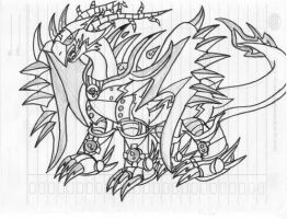 Digimon OC : Thunder armored by VegaAltair