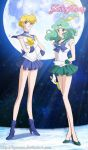 Sailor Uranus and Neptune Crystal by Kymoon