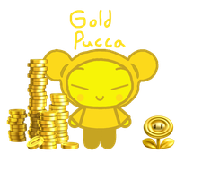 Gold Pucca PNG by rabbidlover01