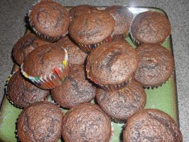 Day 134: Cupcakes - Before frosting by Caedy