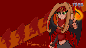 TOME - Flamegirl Wallpaper by Kirbopher15