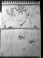 Natsu and Lucy by bandit1030