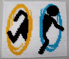 Portal Cross Stitch [Practice] by Lahirien