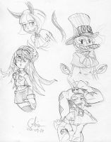 Skullgirls doodle 1 by BD-Ghis