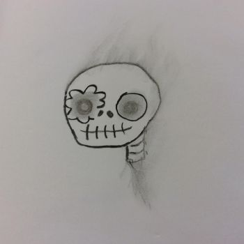 Skull Sketch by Voliol