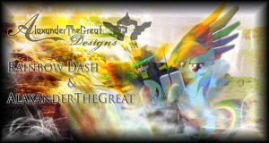 AlaxanderTheGreat and Rainbow Dash Background by BCMmultimedia