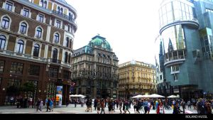 Stephansplatz in Vienna, Austria by RolandHussl