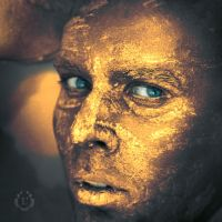 Golden self-portrait by laczi
