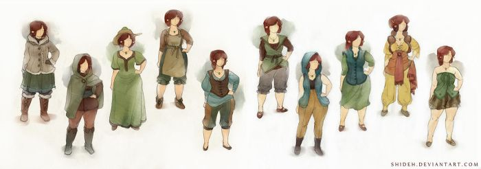 Eileen costume explorations by shideh