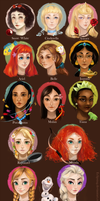[Official] Disney Princesses by Eclipsing