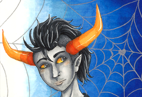 ACEO 09 - Tavros Nitram by WeeverWolf