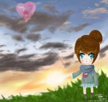 sending my heart with you. by uudie