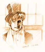 Matt Smith fast portrait by elisamoriconi