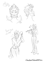 Auto the Violinist by Clawshawt