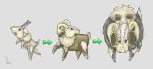 Fakemon:  Sheep Pokemon by werepenguin