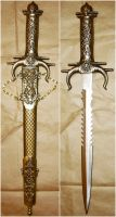 Gold Fantasy Sword + Sheath by FantasyStock